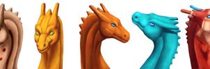 Pernese Dragon Headshots