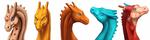Pernese Dragon Headshots by dragonofdivinewind