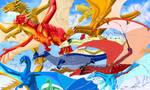 British Dragons Sketch by Revontulis