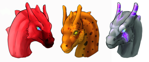 Pernese Dragon Headshots II