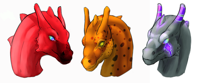 Pernese Dragon Headshots II