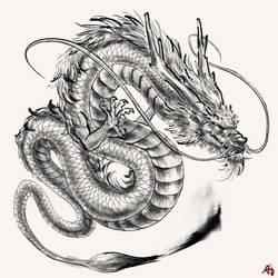 Artist Avatar Challenge | Chinese Ink Dragon