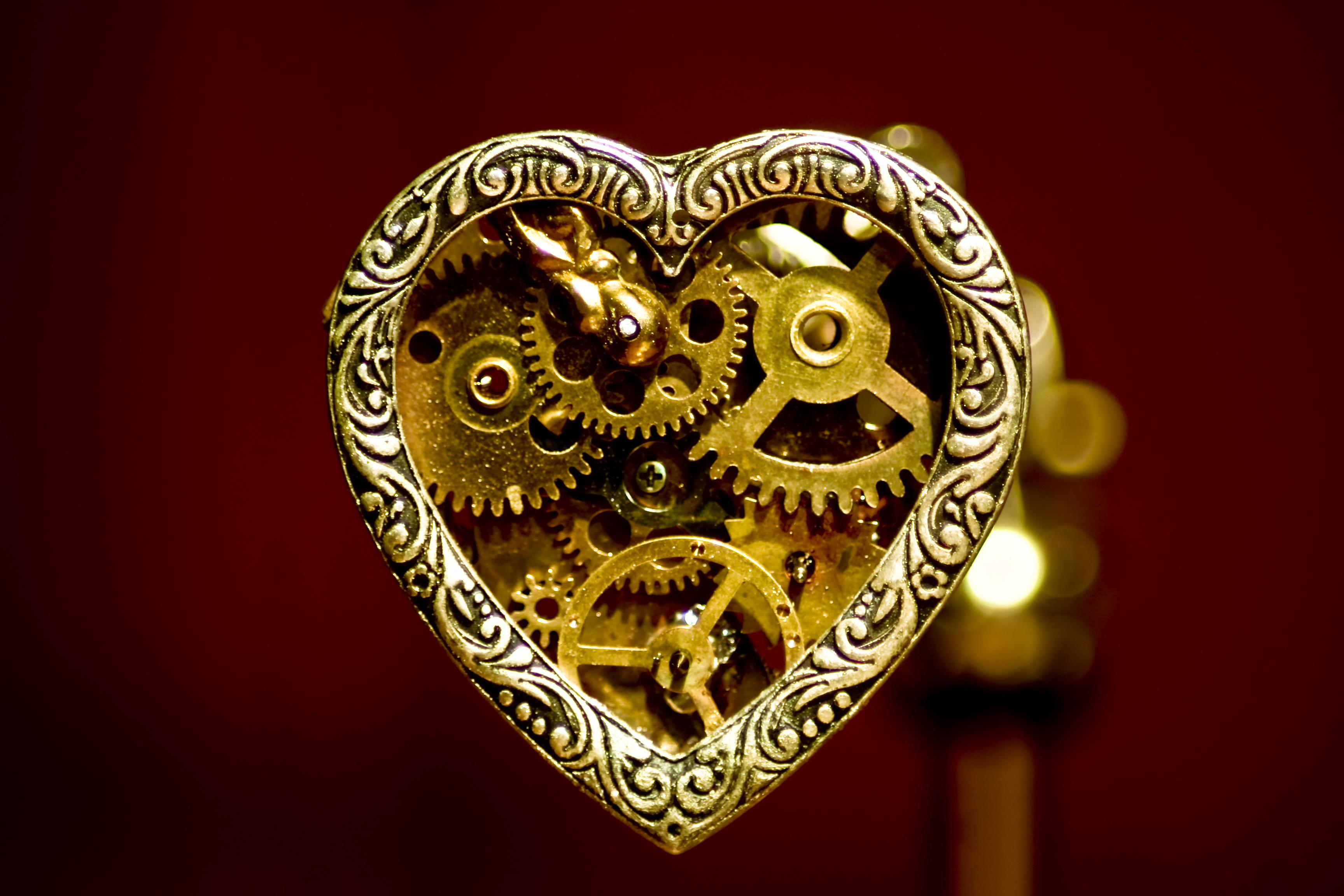 Steampunk Heart Pendant by WillowFox