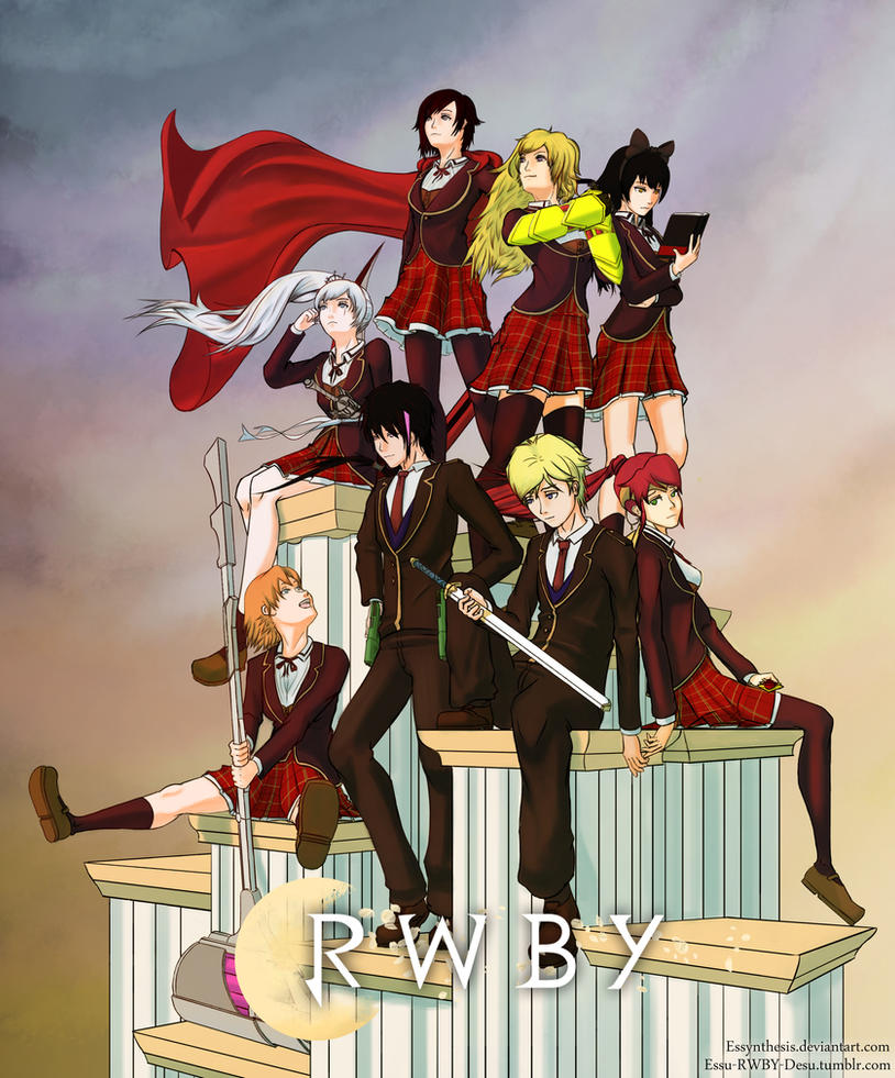 RWBY Team And JNPR Poster By Essynthesis