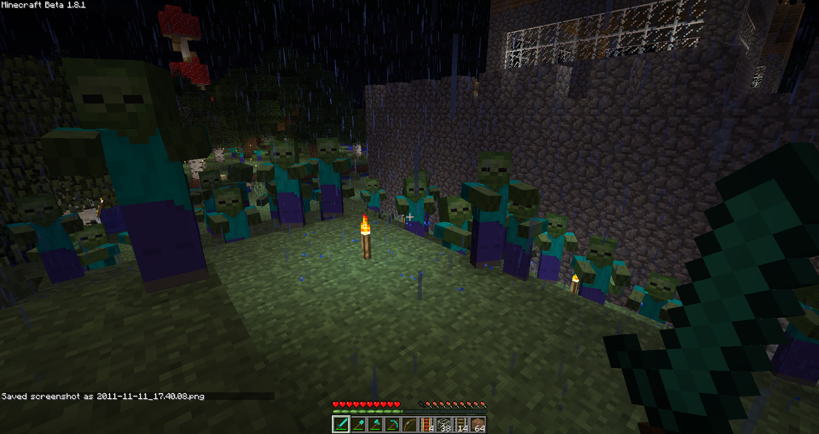 how to build five zombies minecraft