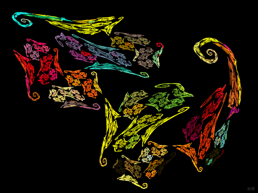 Seahorse Mosaic by UniversalKinase