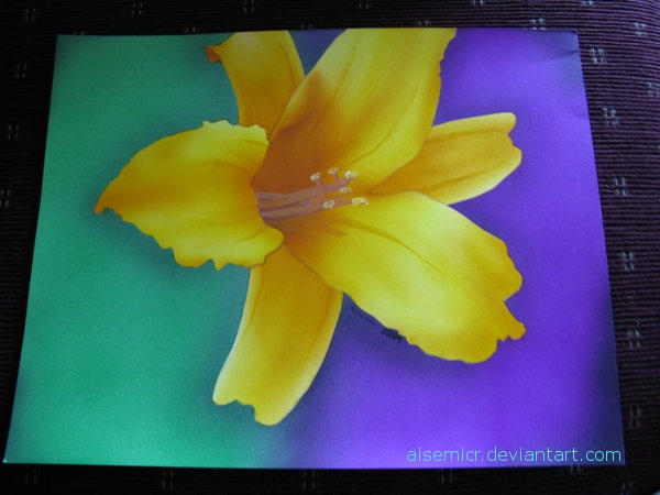 Airbrushed Flower