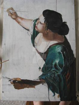 Artemisia Gentileschi WIP 2