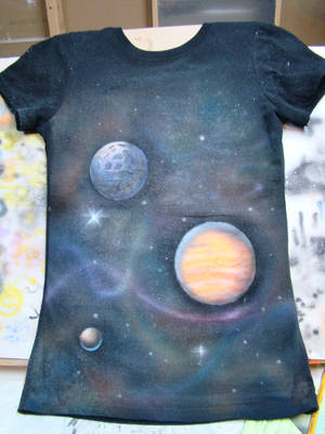 Glow-in-Dark Outer Space Shirt by aisemicr