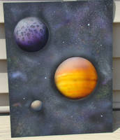 Outer Space Airbrushed by aisemicr