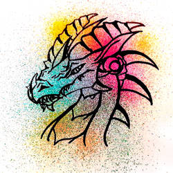 Rainbow Dragon by Vanelia27