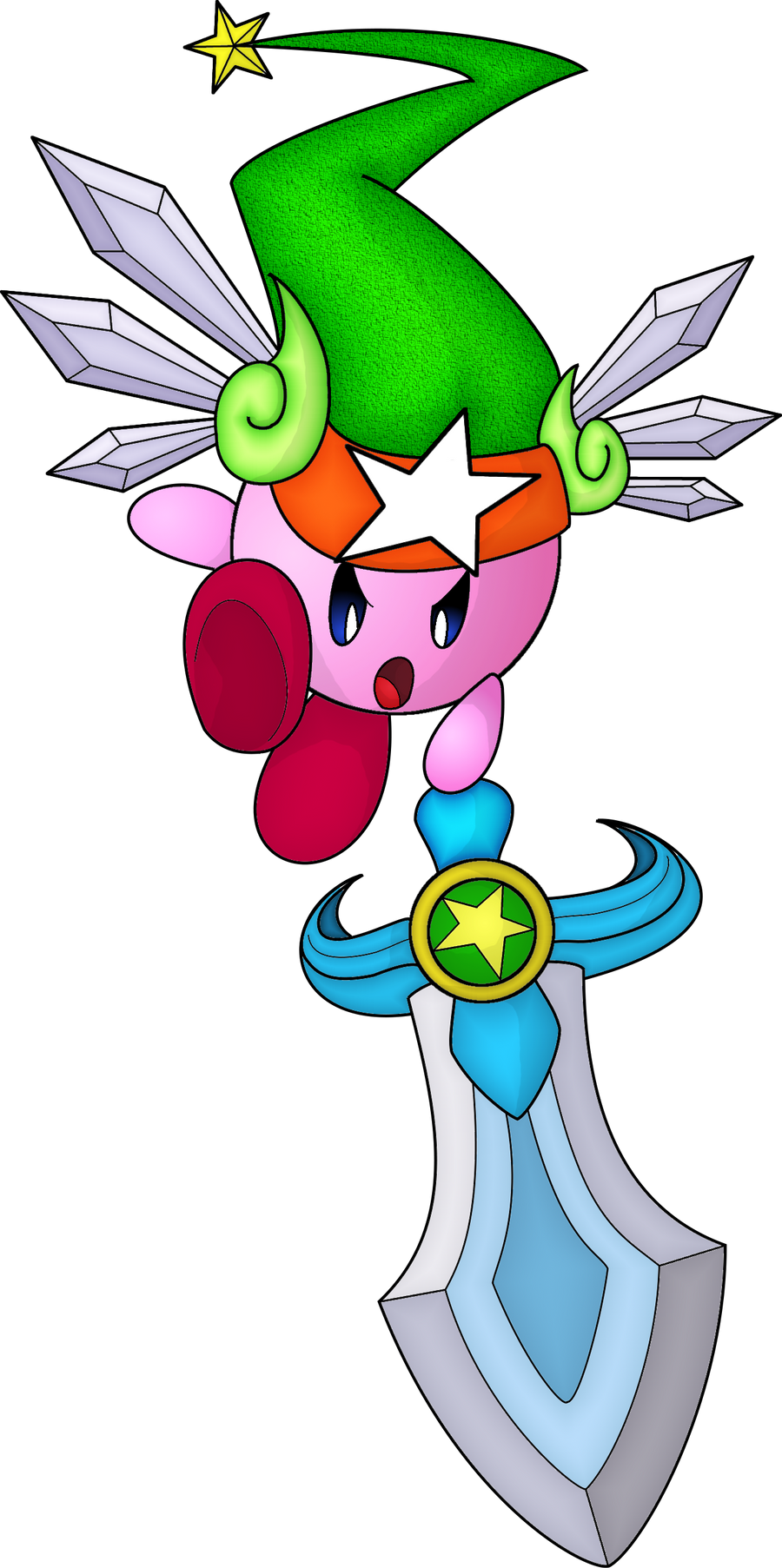 Sword Kirby Drawing Kirby Ultra Sword by