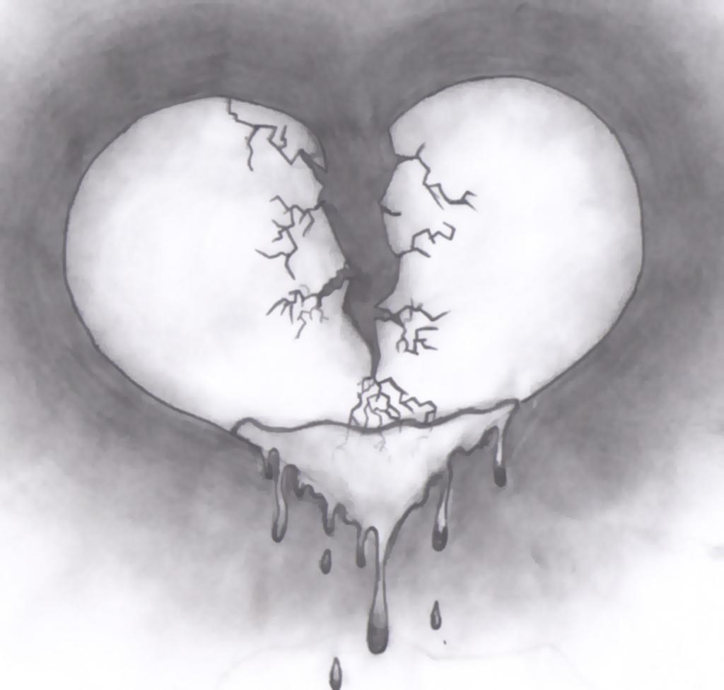 Broken Heart by Swoop03 on DeviantArt Pencil Drawings Of Broken Hearts