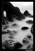 Misty Rocks by atengphotography