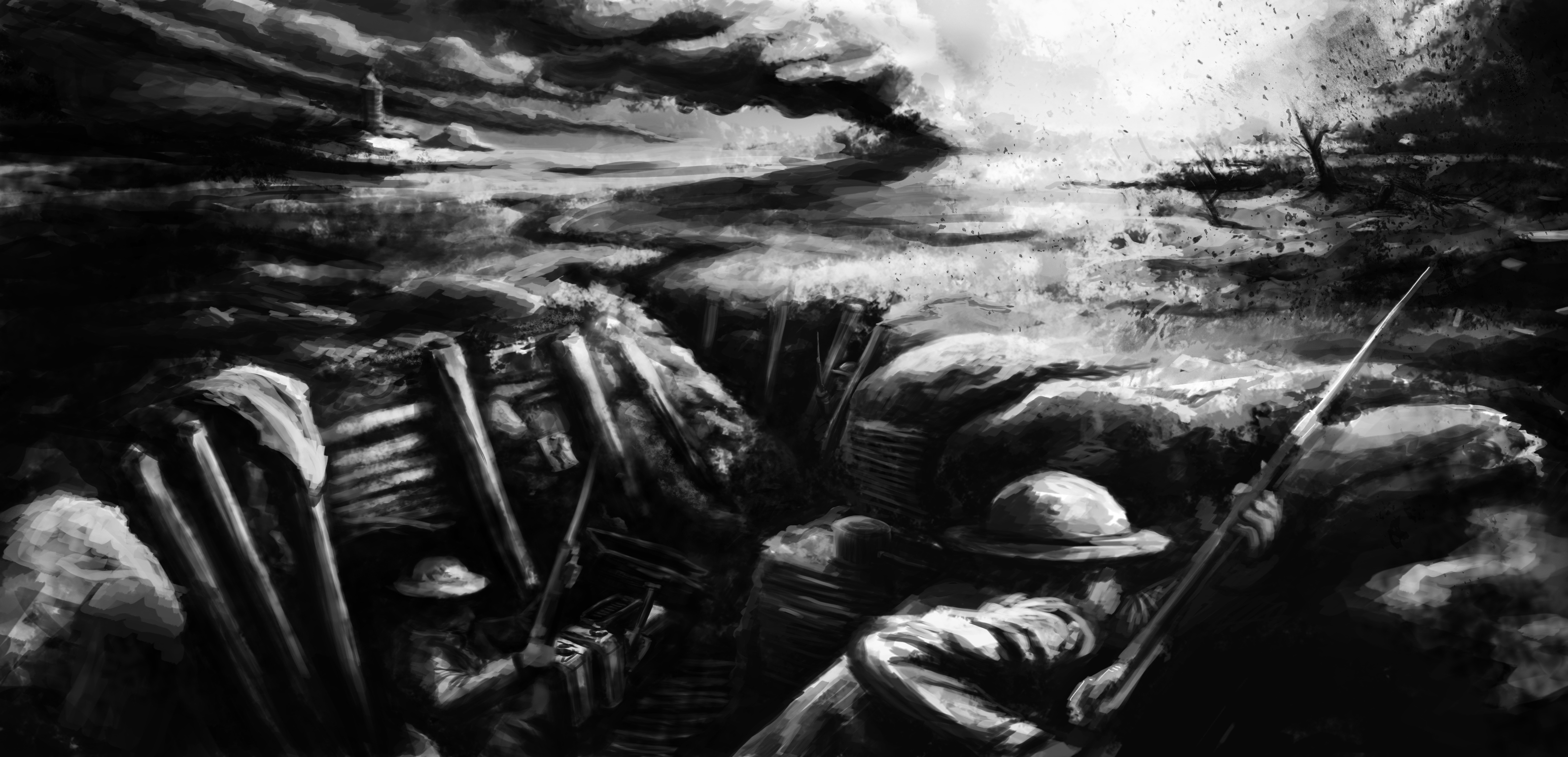 Trenches in World War 1 World War 1 Trenches by