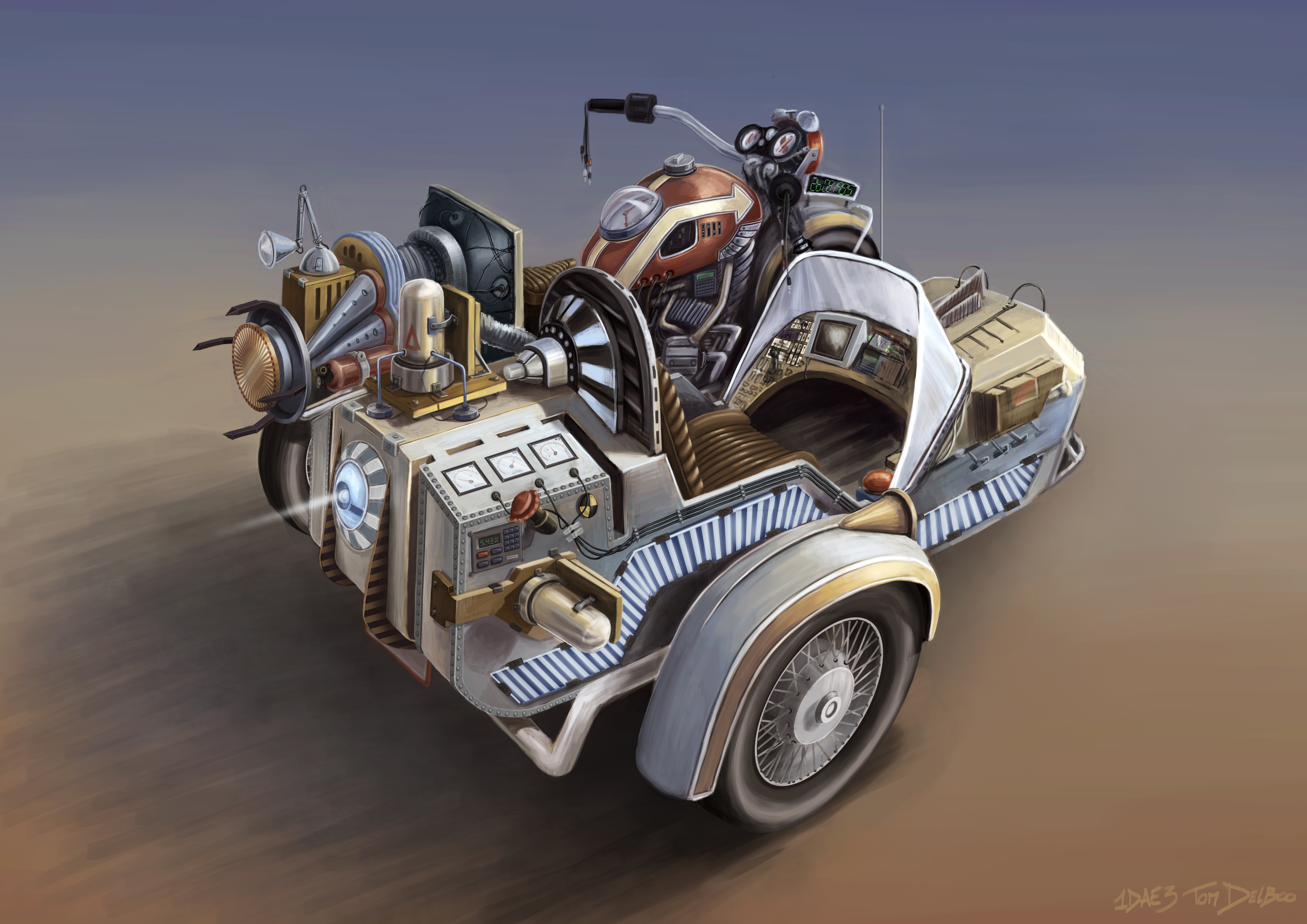 back to the future timemachine by Breaky