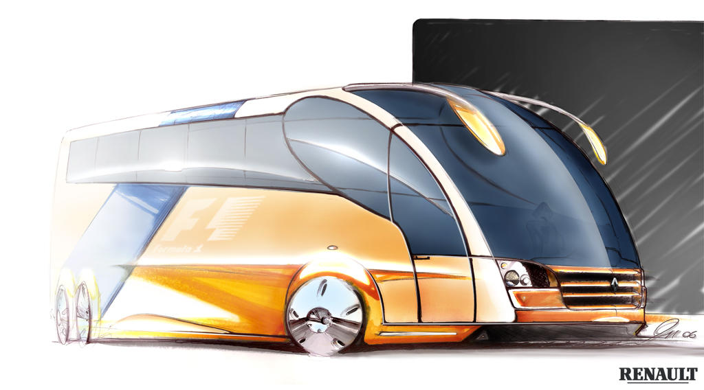 Renault F1 Bus - Motorhome by r2design on DeviantArt