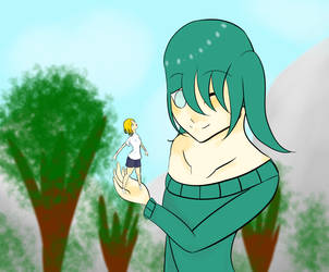 Mirai and CoolGhostGirl by VampiricLover229