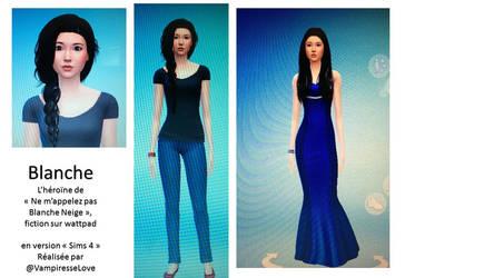 Blanche version Sims4 par VampiressLove by mayagally