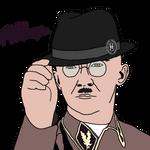 Heinrich Himmler Tipping His Fedora for Da Fuhrer