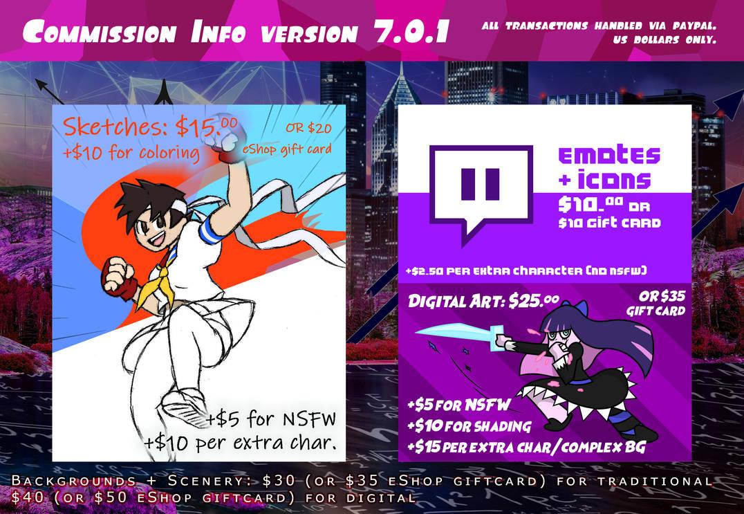 Commission Info Version 7.0.1
