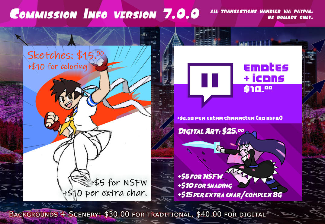 Commission Info Version 7.0