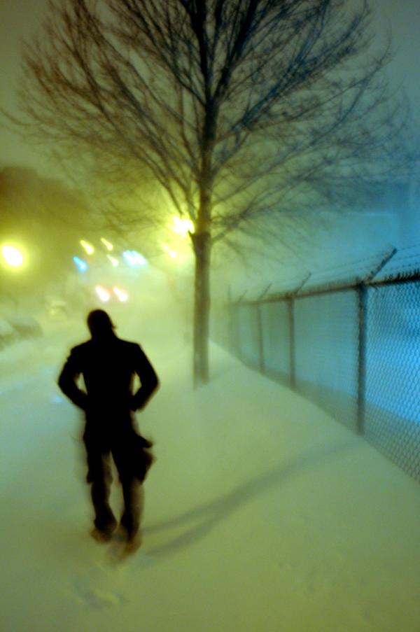 Lone walker by tibopix