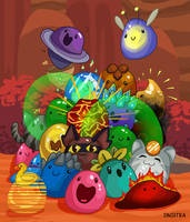 Pile of slimes by Sinsitra