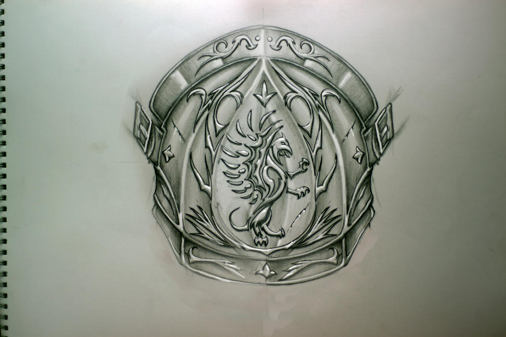 Sketch For The Shoulder Armor Tattoo By TimHag On DeviantArt