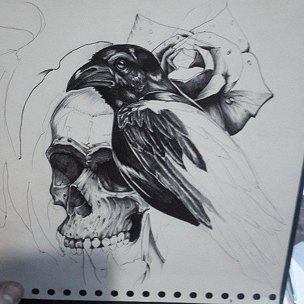 tatto design in process by TimHag