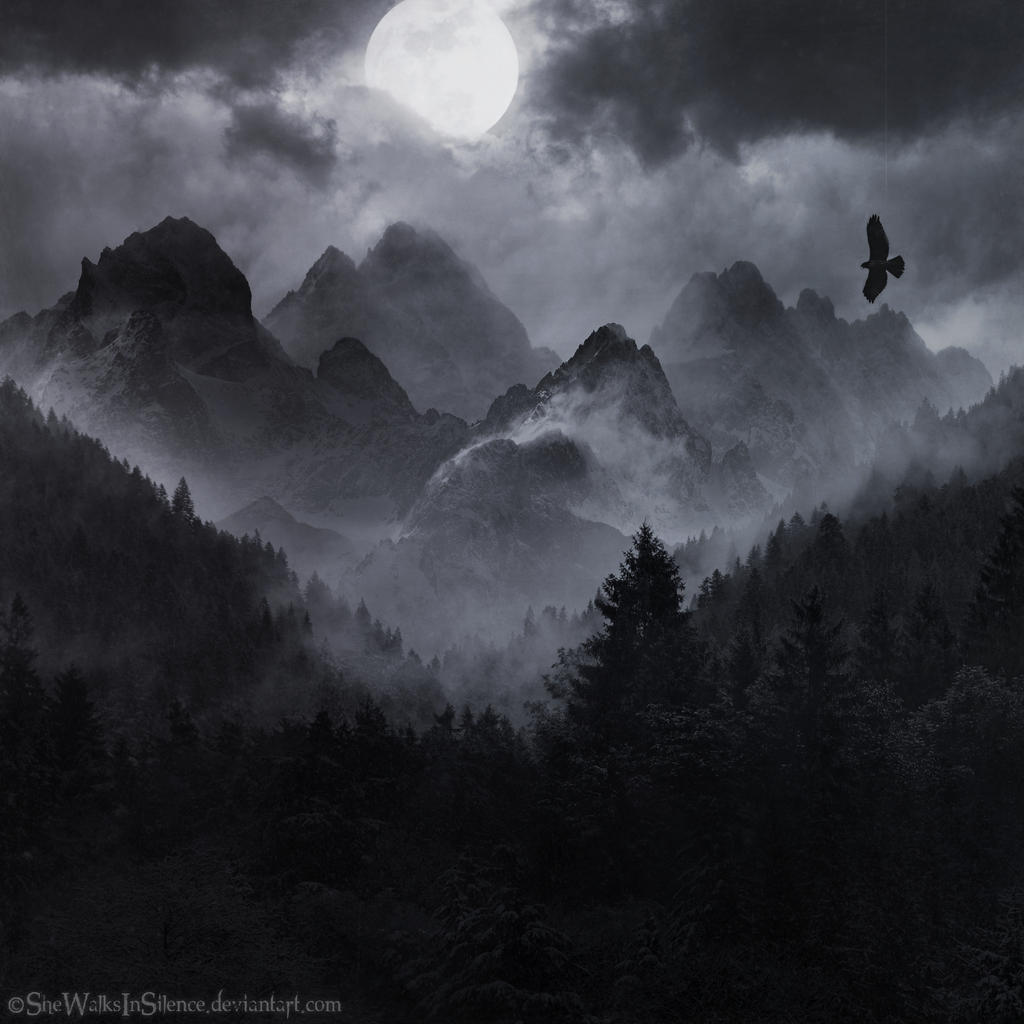 The Misty Mountains by SheWalksInSilence