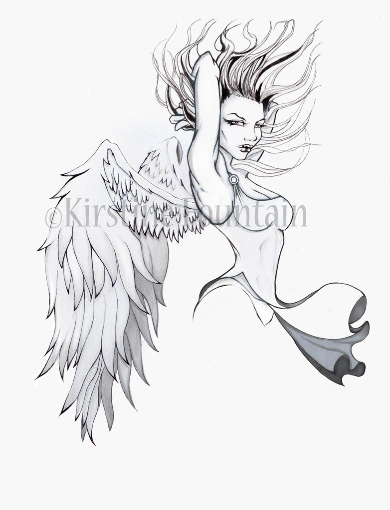 angel tattoo design by velvetvixen84 on deviantart. Black Bedroom Furniture Sets. Home Design Ideas
