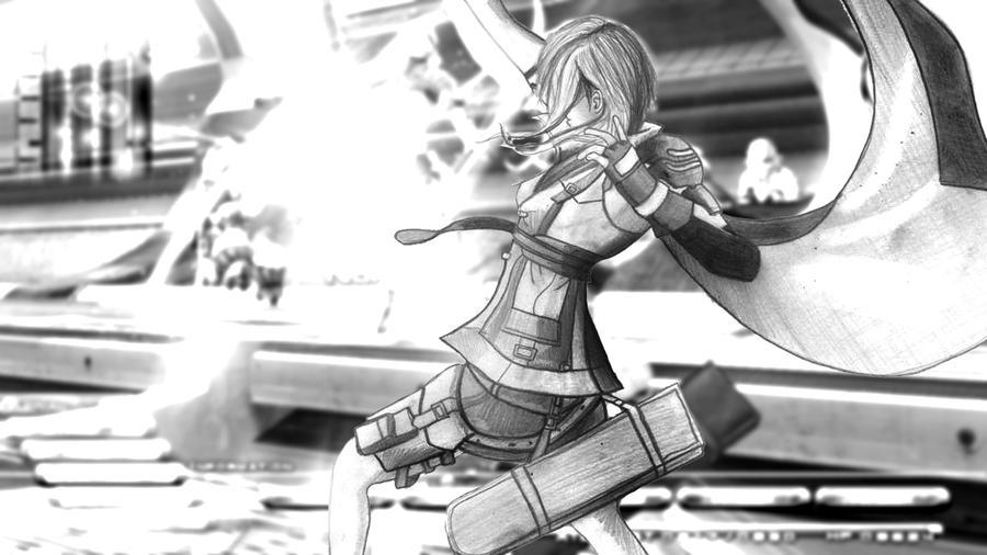 Light fight - Final Fantasy XIII by PolishPsycho
