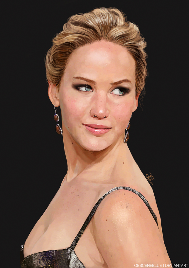 -JLaw Painting- by obsceneblue