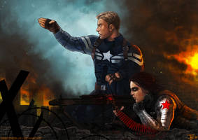 -Captain America and the Winter Soldier- by obsceneblue