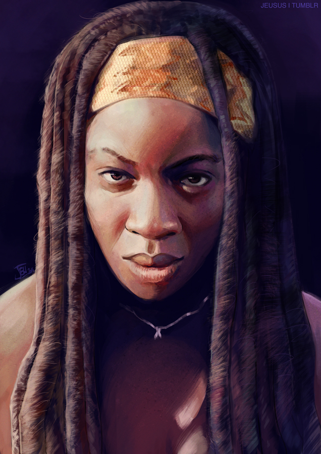 -Michonne- by obsceneblue
