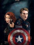 -Black Widow and Captain America-