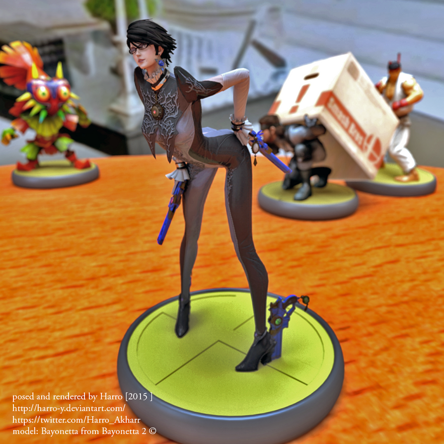amiibo bayonetta 3D render 2 by Harro-Y on DeviantArt
