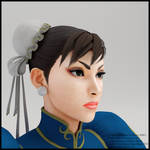 3D portrait render Chun-li Street Fighter V