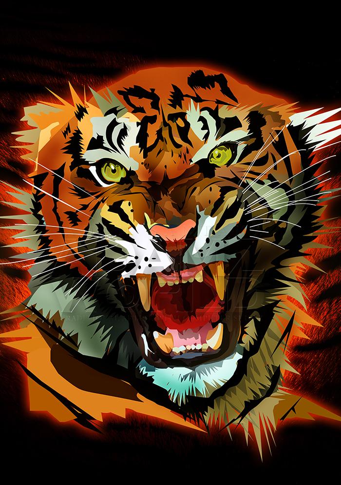 Tiger Roar by Adamzworld