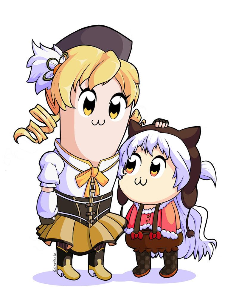 Pop Team Magica: Mami and Nagisa by Nikothala