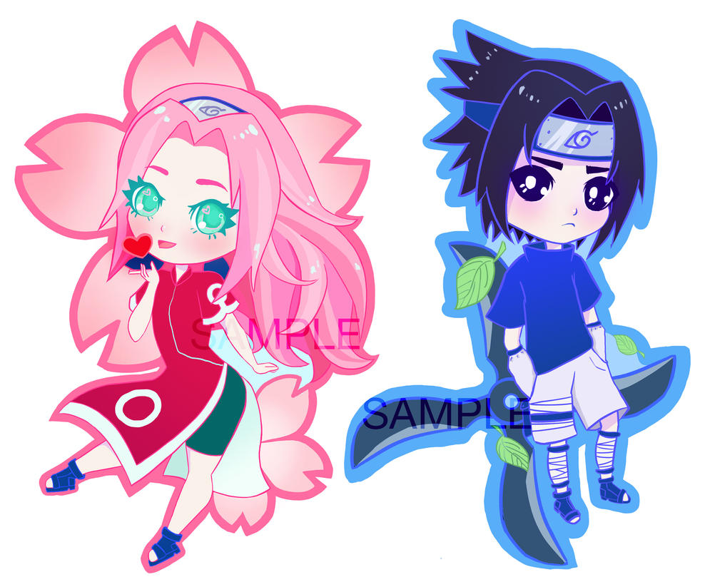 SasuSaku charms by ShannonAlise