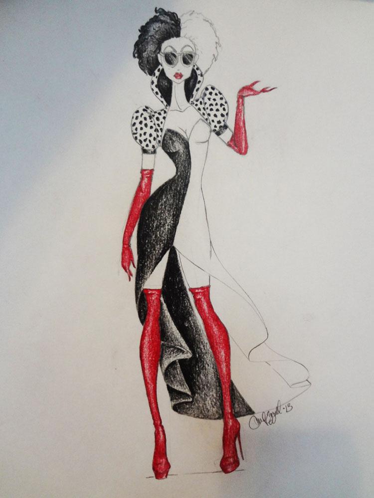 cruella de vil costume design by chadalan07 on deviantart. Black Bedroom Furniture Sets. Home Design Ideas