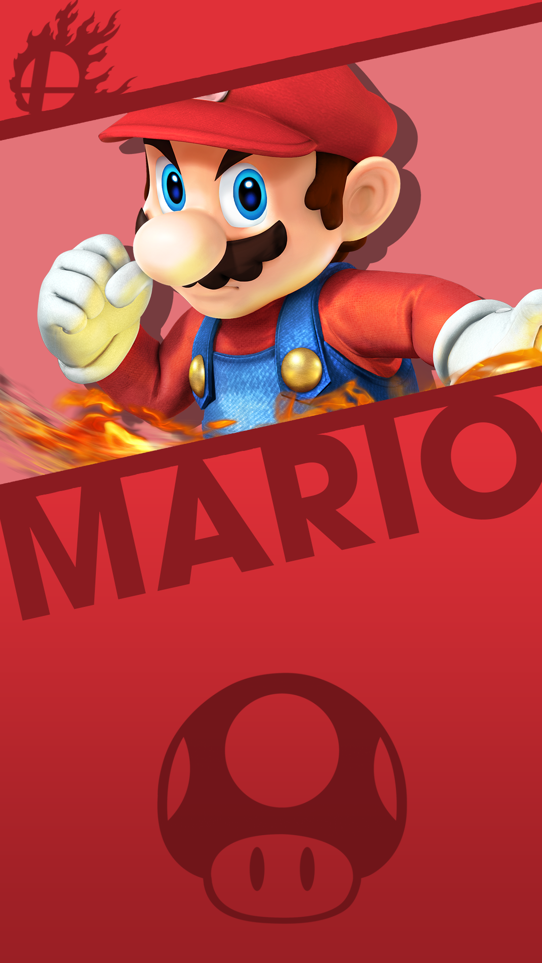 mario smash bros phone wallpaper by mrthatkidalex24 on