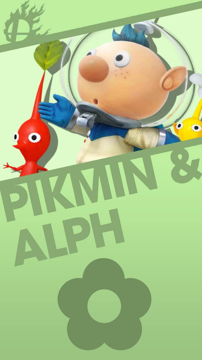 Pikmin And Alph Smash Bros Phone Wallpaper By Mrthatkidalex24 On