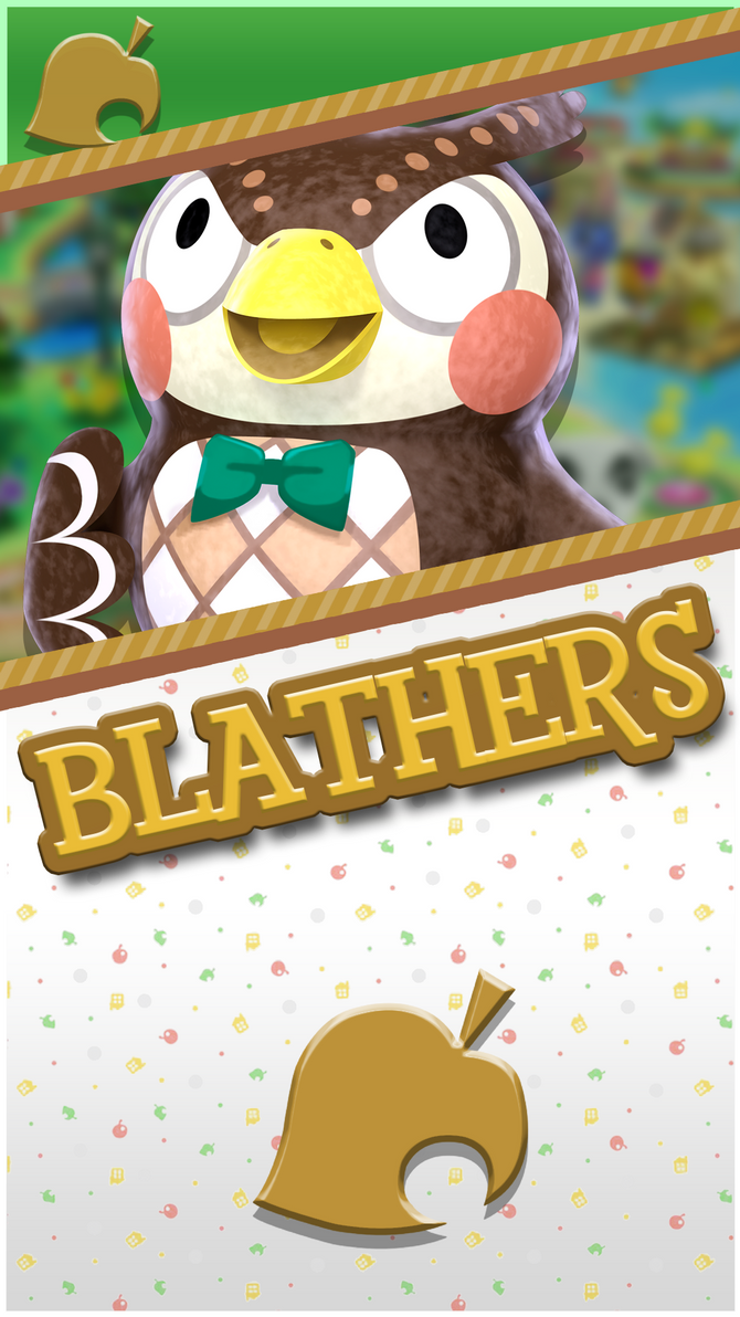 Blathers Animal Crossing Phone Wallpaper by ...