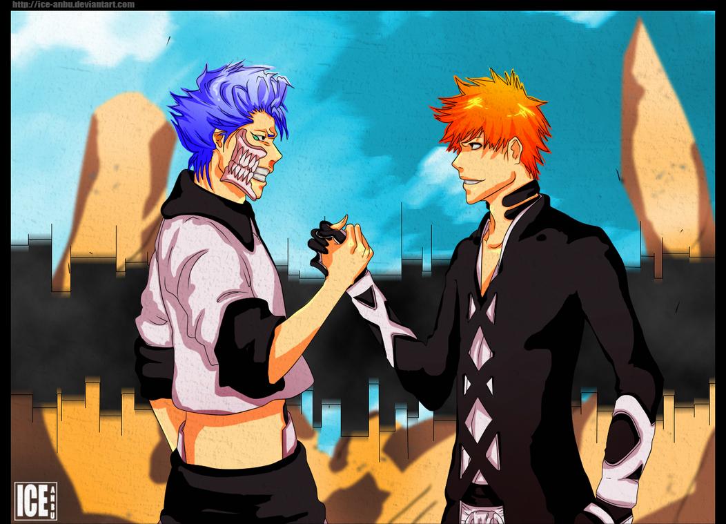 Bleach: Ichigo Kurosaki and Grimmjow Jaggerjack by ice-anBu