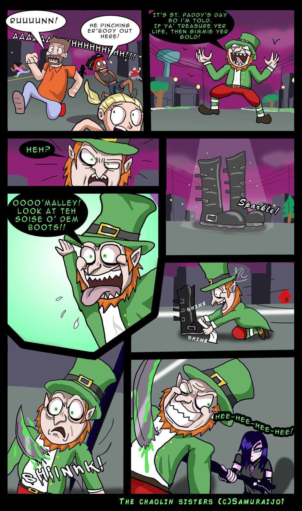 St. Patrick's day peril pg1/4 by SamuraiJo1