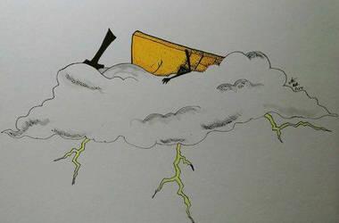 Inktober 19- Cloud Bill by SugaryDeath