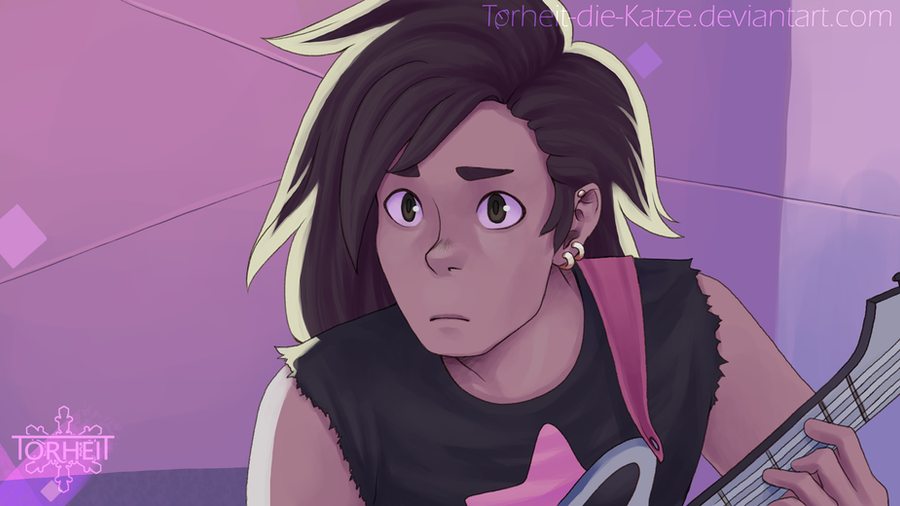 "Yay, wanted to draw a quick Steven Universe fanart, because that show is amazing. Screenshort redraw from ""We need to talk"" torheit.tumblr.com/post/124003…"